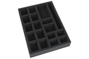 Foam tray for tokens, measures and dice