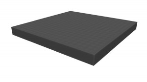 Raster foam tray 25mm deep for board game boxes