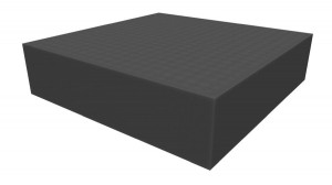 Raster foam tray 72mm deep for board game boxes