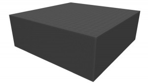 Raster foam tray 100mm deep for board game boxes