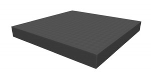 Raster foam tray of increased density 32mm deep for board game boxes