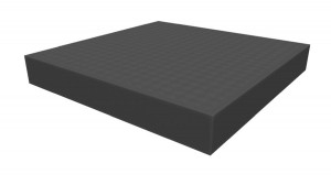 Raster foam tray of increased density 40mm deep for board game boxes