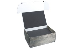 Combi BOX with 100mm deep raster foam tray and upper additional tray for minis